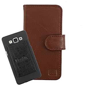 DooDa Genuine Leather Wallet Flip Case Cover With Card & ID Slots For Gionee Elife E7