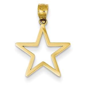 14k Gelb Gold Sterne Charme