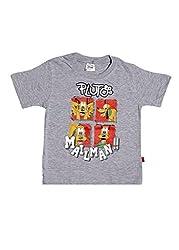 Disney Boys' Graphic Printed T shirt (0123405_Milange_3 Years)