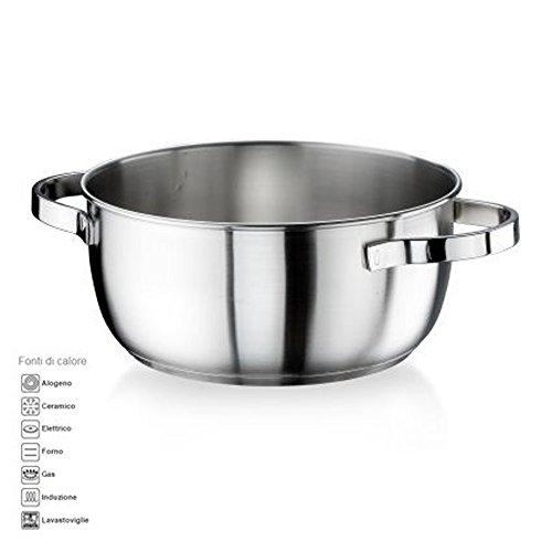 Casseruola fonda diametro 18cm 1.75lt ACCIAIO INOX satinato della Pintinox modello Royal MADE IN ITALY anche per cucina ad induzione