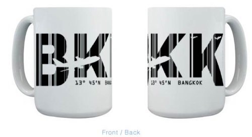 Bangkok Airport Code BKK Thailand Mug