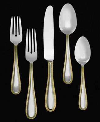 Buy Discount Wedgwood Vera Wang Stainless Vera Lace Gold 5