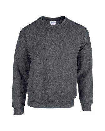 Gildan 18000 Heavy Blend Adults Crew Neck Sweatshirt Dark Heather M