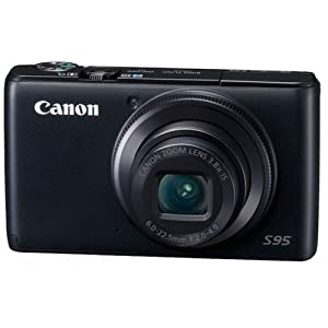 Canon Powershot S95 Point & Shoot Camera with 10MP, 3.8x Optical Zoom and 3 inch Screen (Black)