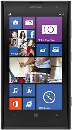Nokia Lumia 1020 Smartphone (11,8 cm (4.5 Zoll) PureMotion HD+ OLED Touchscreen mit ClearBlack Technologie, 41 Megapixel, 32 GB, Windows Phone 8) schwarz