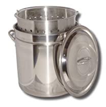 Big Sale King Kooker KK24SR Ridged Stainless Steel Pot, 24-Quart