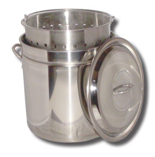 King Kooker Kk24Sr Ridged Stainless Steel Pot, 24-Quart