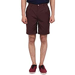 FBBIC Trendy Brown Men's Solid Short(Size::XS)