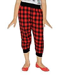 Gkidz Red Checked Girls Capris