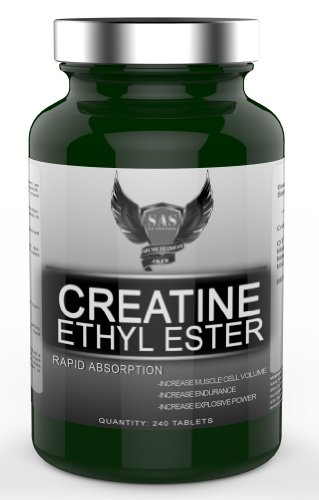 SAS Nutrition Creatine Ethyl Ester 240 Tabs - CEE will Increase Muscle Cell Volume - Strength and Endurance, Rapid Recovery.