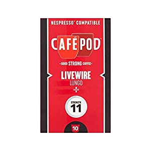 Order CafePod Livewire Nespresso Compatible Coffee Capsules 10 per pack - Pack of 2 from CafePod