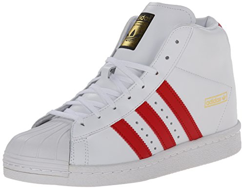 Adidas Originals Women's Superstar Up W Fashion Sneaker, White/Scarlet/Gold, 8.5 M US