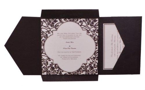 Wilton Wedding Invitations Template: Set Of 25 Wilton Wedding Black And White Vintage Pocket