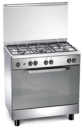Cuisinire-gaz-inoxydable-80x50x85-cm-avec-5-feux-et-four--gaz-Regal-RC855GX
