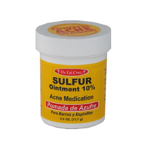Pomada De Azufre Sulfur Ointment 2.6 Oz Acne Cream De La Cruz