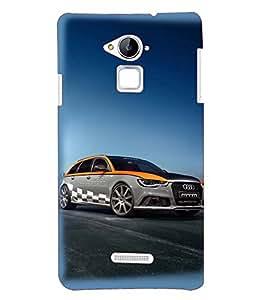 Printvisa Premium Back Cover Dual Coloured Chequred Flag Audi Design For Coolpad Note 3