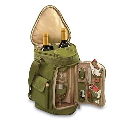 Meritage Insulated 2-Bottle Cooler Tote with Wine and Cheese Service