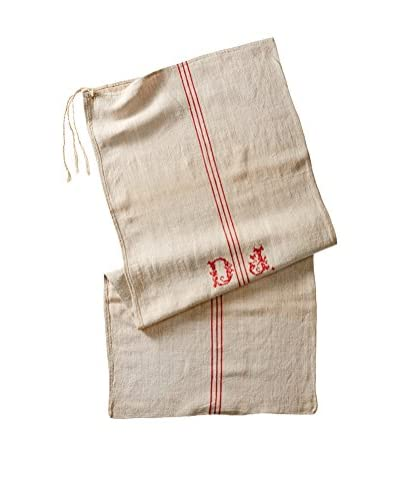 Europe2You Found Striped Linen Table Runner, Natural/Red