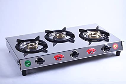 RJB IN Surya C Stainless Steel Gas Cooktop (3 Burner)