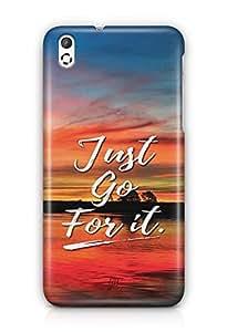 YuBingo Just Go For It Designer Mobile Case Back Cover for HTC Desire 816