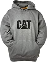 Caterpillar Mens Grey Handwarmer Pocket Casual Trademark Sweatshirt