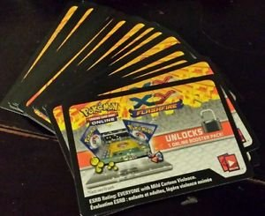 Pokemon XY Flashfire Promo Lot of 36 Online Code Cards
