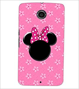 PrintDhaba Minnie Mouse D-1454 Back Case Cover for MOTOROLA GOOGLE NEXUS 6 (Multi-Coloured)