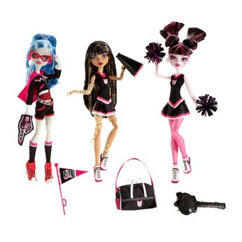 Monsters High Fearleading squad 3 doll pack
