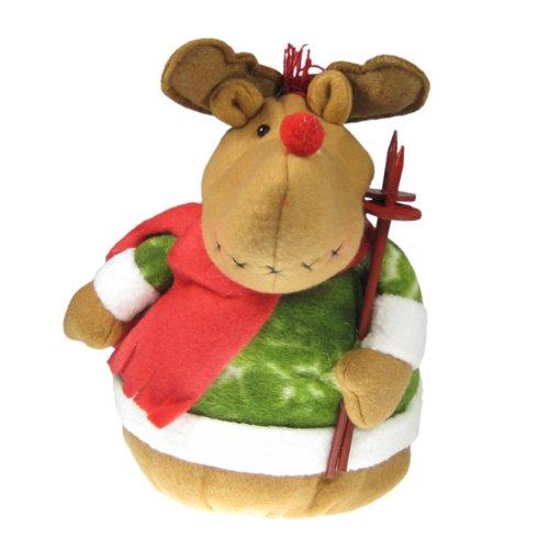 Reindeer Stuffed Animal Bean Bag Christmas Decoration Home Décor Handmade Fleece Plush Weighted Base