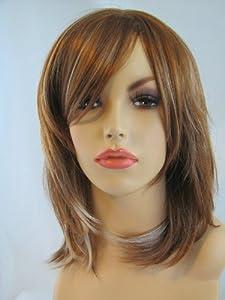 Shoulder length light brown/blonde face frame layered