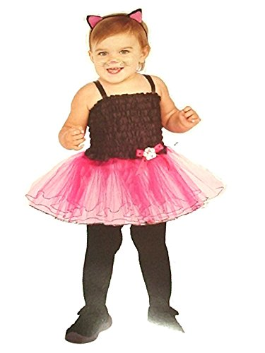 Rubies Halloween Baby Girls Infant Cat Tutu Costume Pink & Black Fits 12-18 Months