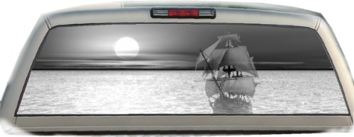Ghost Ship- Gray- 22 Inches-by-65 Inches- Rear Window Graphics (Buccaneers Window Graphics compare prices)