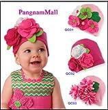 Baby Hat Modeling of Flower Children's Fashion Cap 3 Color Flower
