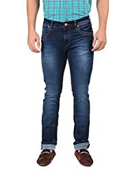 Oxemberg Men's Slim Fit Denim (TL7645_DARK BLUE_32)