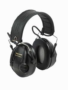 Peltor Sporttac Tactical Sport Headset w  Standard Black & Orange Cups MT16H210F... by Peltor