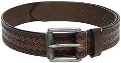 Fume Designs Men's Leather Belt - FB BR 89G_Brown_32