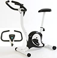 Top Gym Master Exercise Bike in Black & White for Fitness Cardio Workout On sale-image