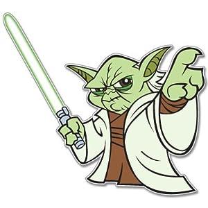 "Star Wars Yoda car bumper window sticker decal 4"" x 4"""