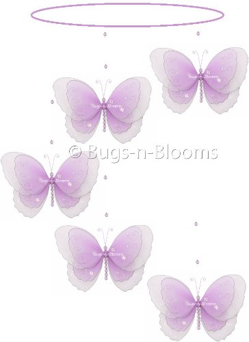 Butterfly Mobile Purple (Lavender) Multi-Layered