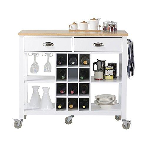 Homestar Wide Kitchen Island Cart 41 X 19 X 36 1 3