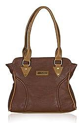 Fantosy Women's Handbag Brown and Beige (FNB-607)
