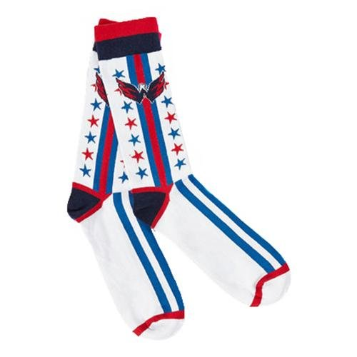 Washington Capitals NHL Stylish Socks (1 Pair) (S-M) сумка на ремне nhl capitals цвет синий 3 5 л 58015