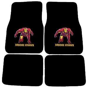 Iron Man Front & Back Carpet Floor Mats for Car/Truck/Van/SUV by OxGord