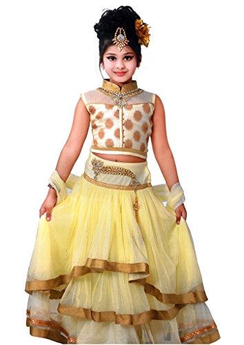 Arshia Fashions partywear girls lehenga choli – Off White