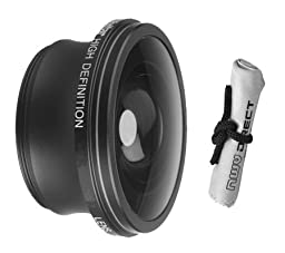 2.2x Teleconverter Lens For Sony DCR-DVD305 + Stepping Ring (25mm-37mm) + Nwv Direct Microfiber Cleaning Cloth