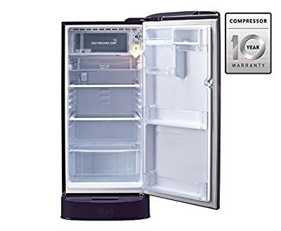 LG GL-D221ASAN.DSAZEBN Direct-cool Single-door Refrigerator (215 Ltrs, 5 Star Rating, Scarlet Aster)