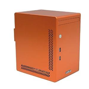 LIAN LI  Mini-ITXケース オレンジ PC-Q02Lite-OR