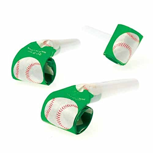 Dozen Baseball Theme Blowout Blower Noisemakers