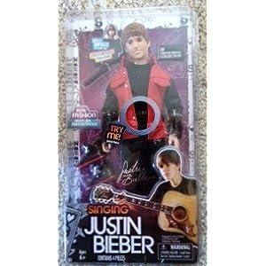 Justin Bieber Singing Doll on Amazon Com  Justin Bieber Singing Doll Sings  Never Say Never  Red