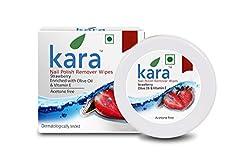 Kara Nail Polish Remover Wipes - 30 pulls - Strawberry